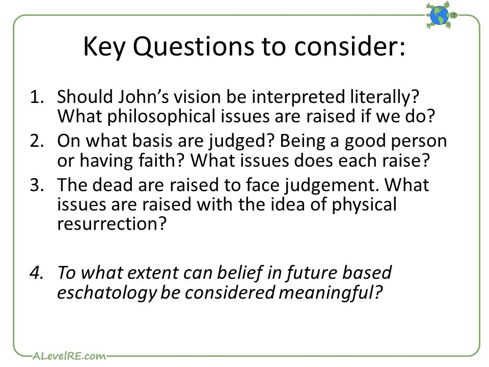 Key Questions to consider: