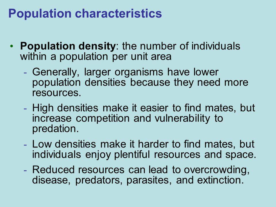 Population characteristics