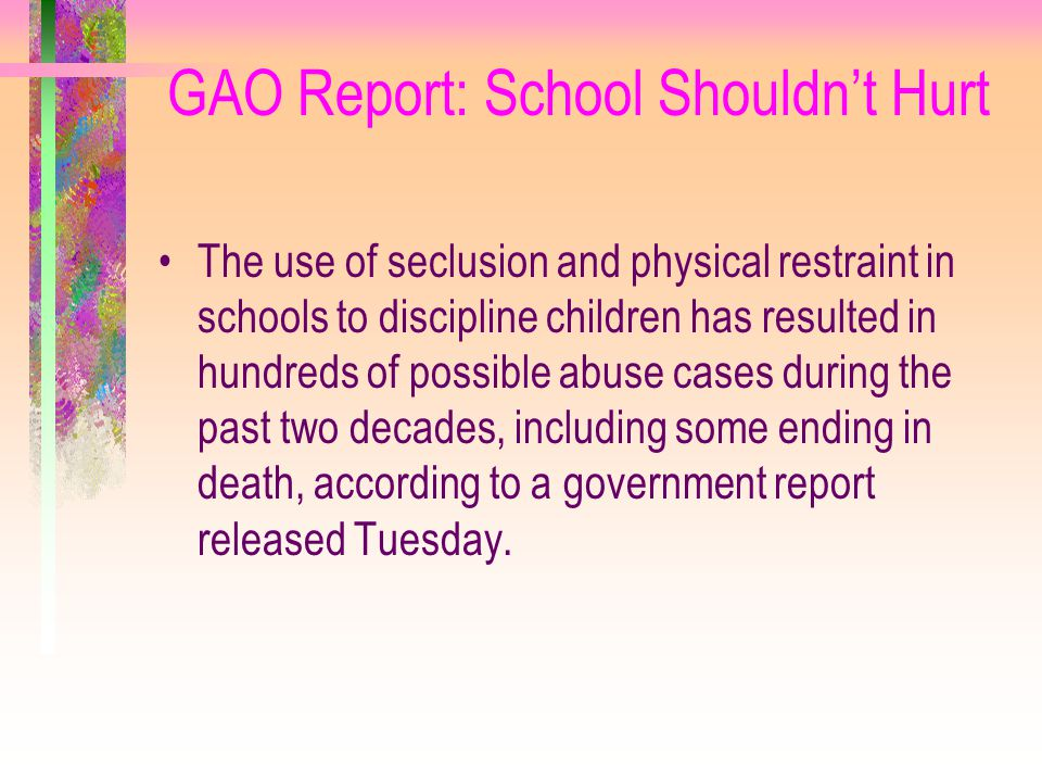 GAO Report: School Shouldn't Hurt