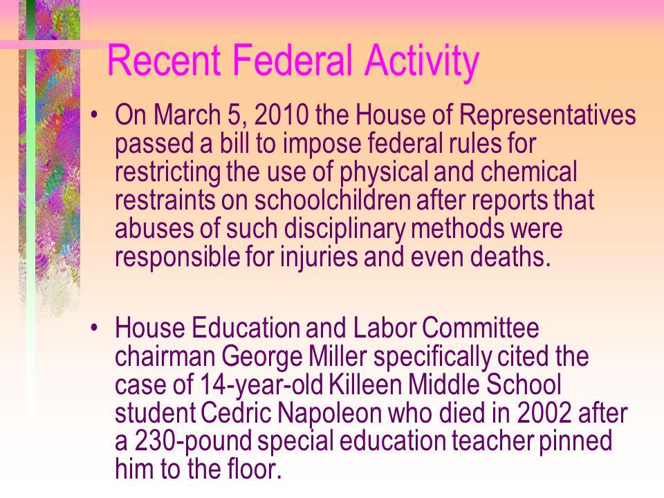 Recent Federal Activity