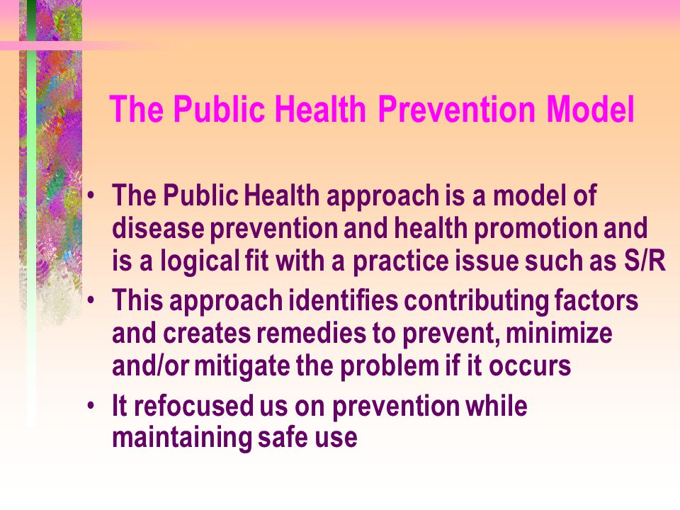 The Public Health Prevention Model