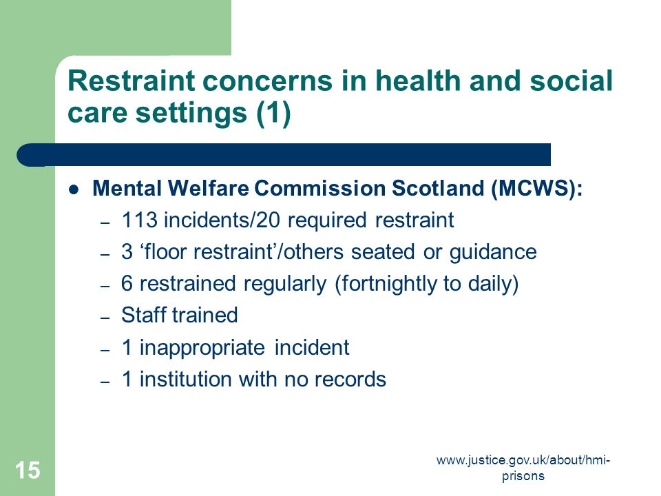 Restraint concerns in health and social care settings (1)