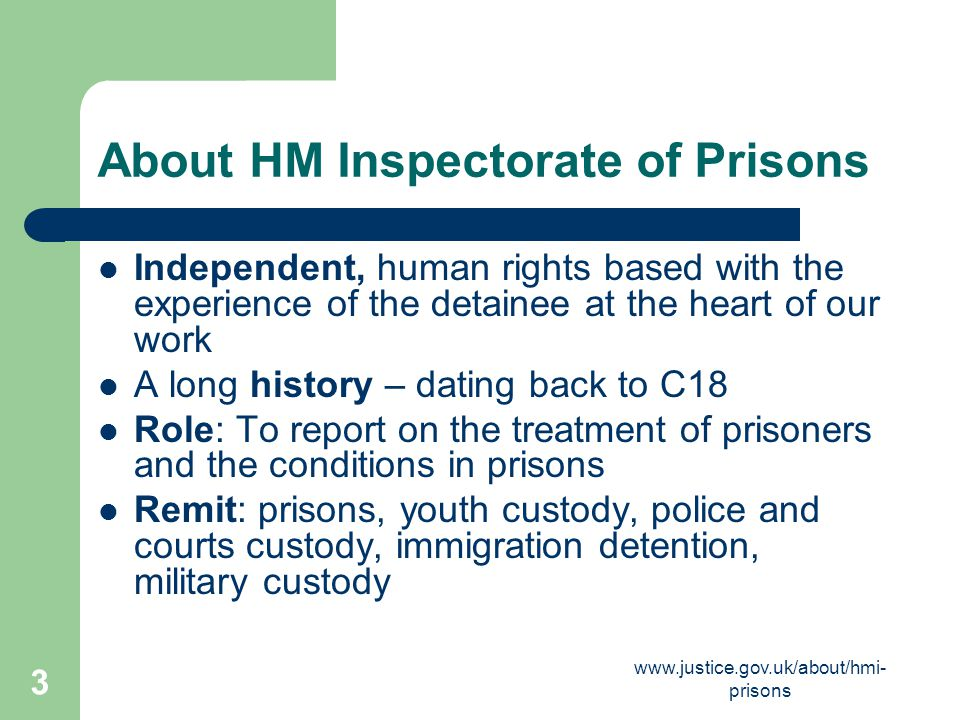 About HM Inspectorate of Prisons