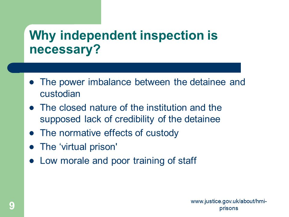 Why independent inspection is necessary