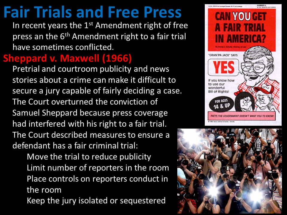 Fair Trials and Free Press
