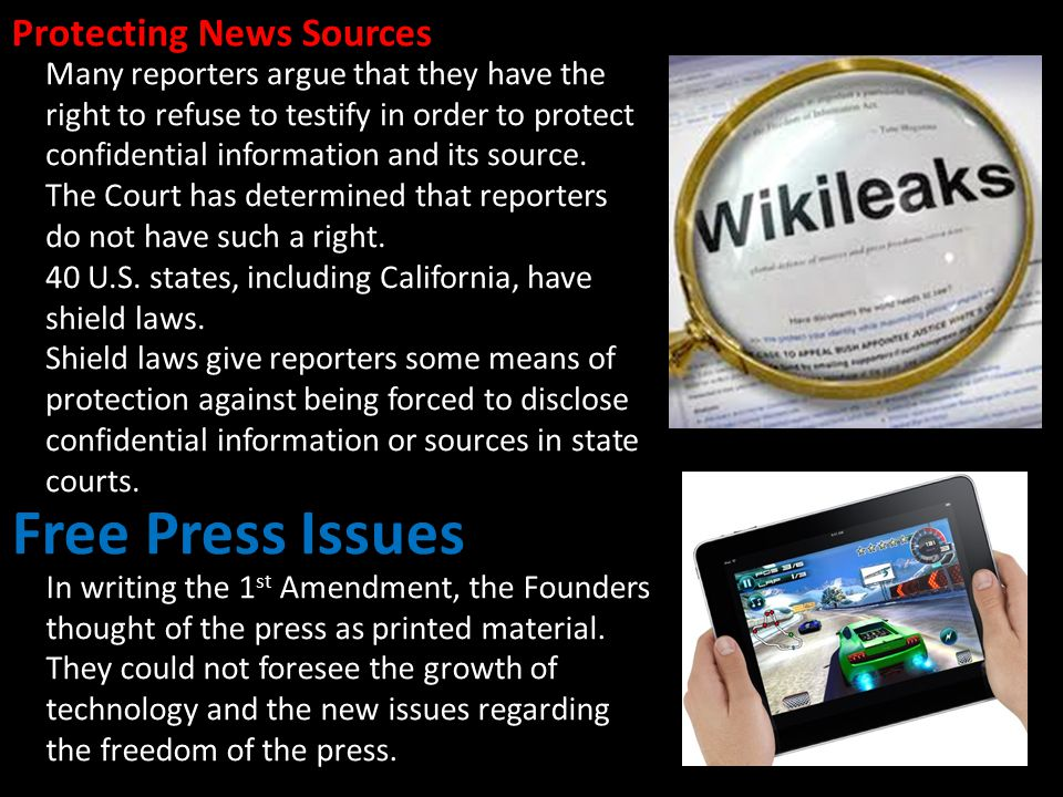 Free Press Issues Protecting News Sources