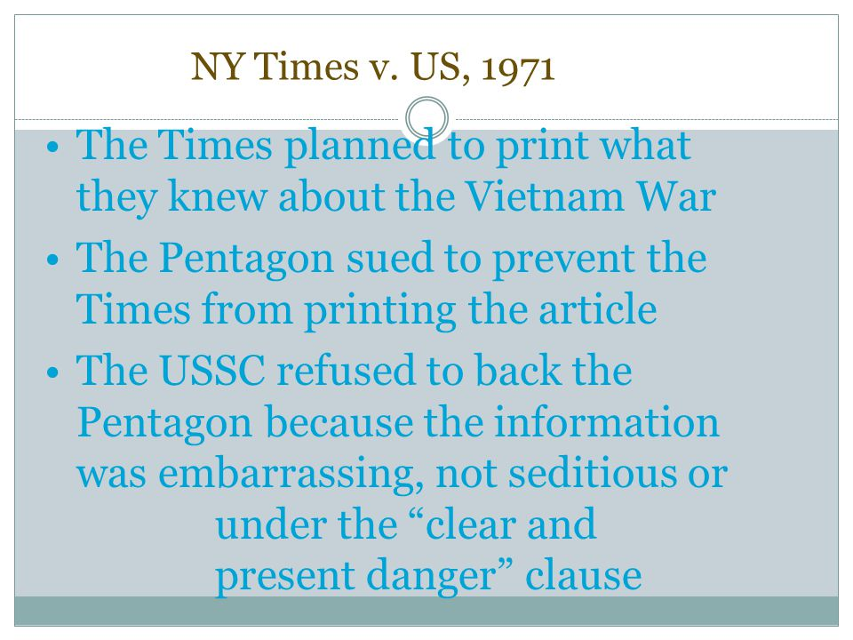 The Times planned to print what they knew about the Vietnam War