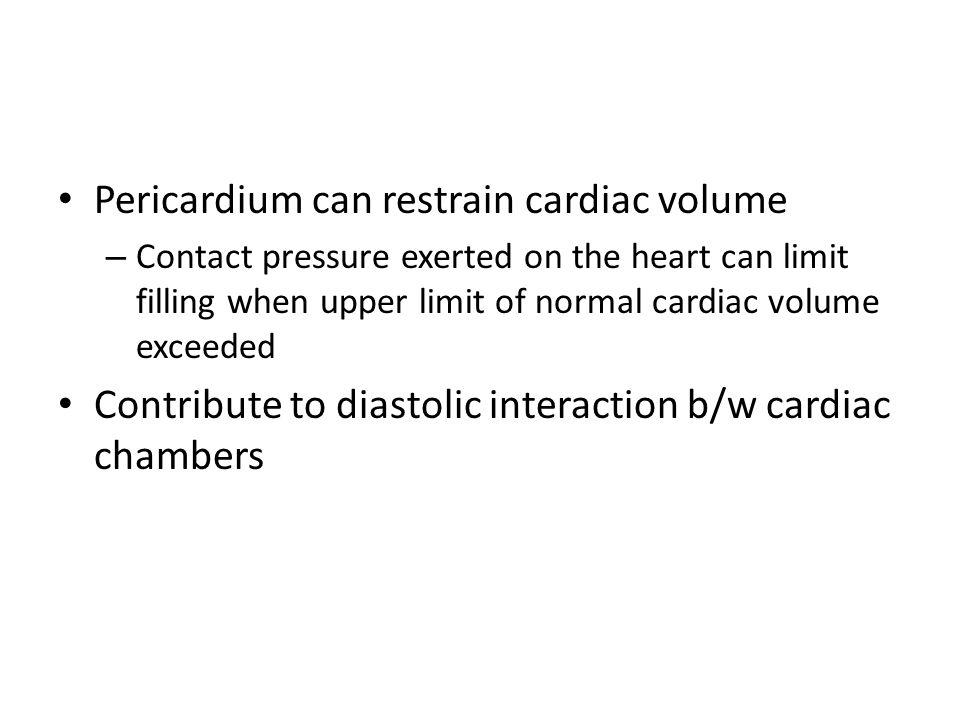 Pericardium can restrain cardiac volume