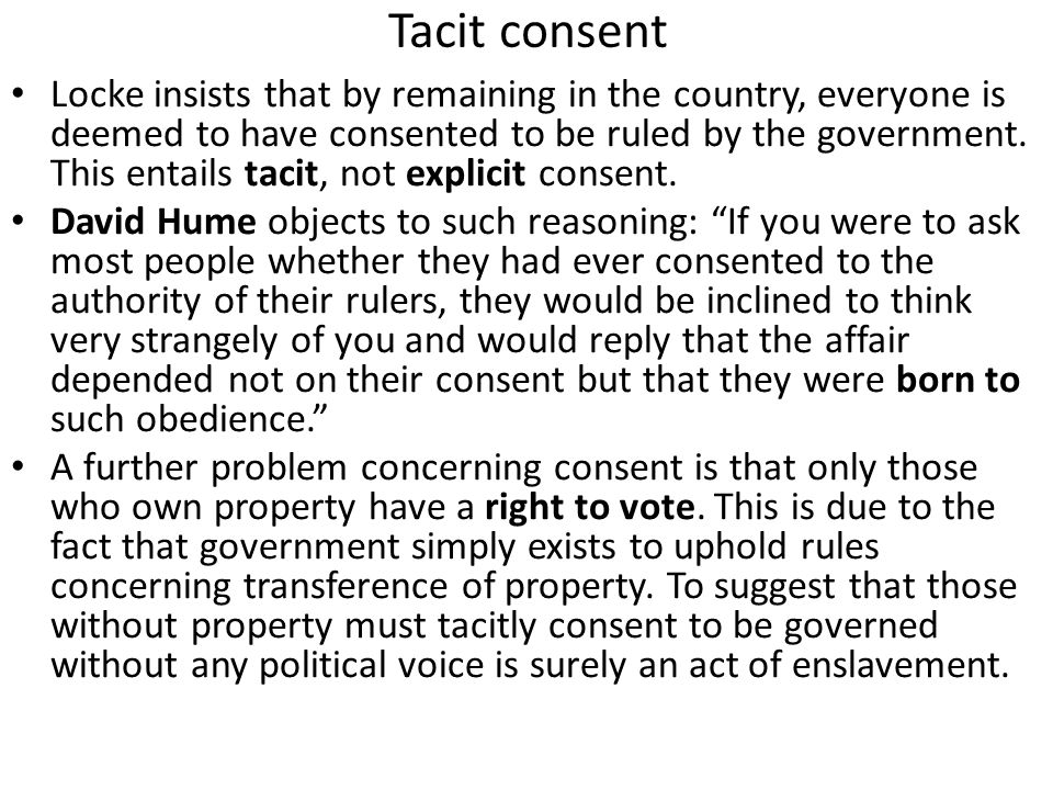 Tacit consent