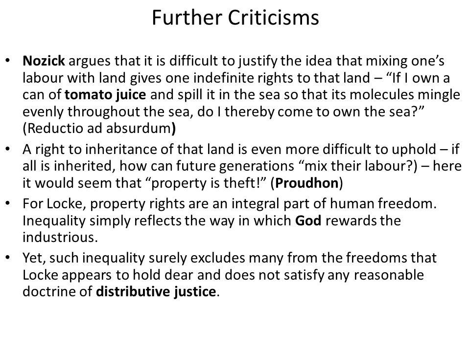 Further Criticisms