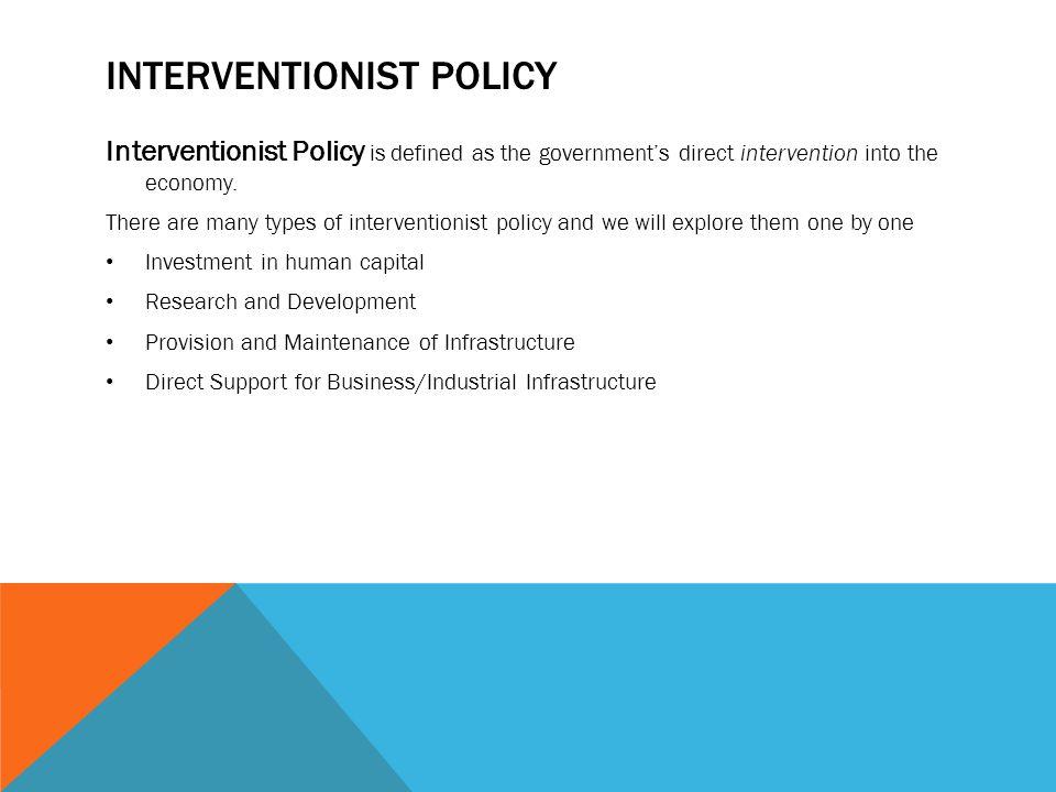 Interventionist policy