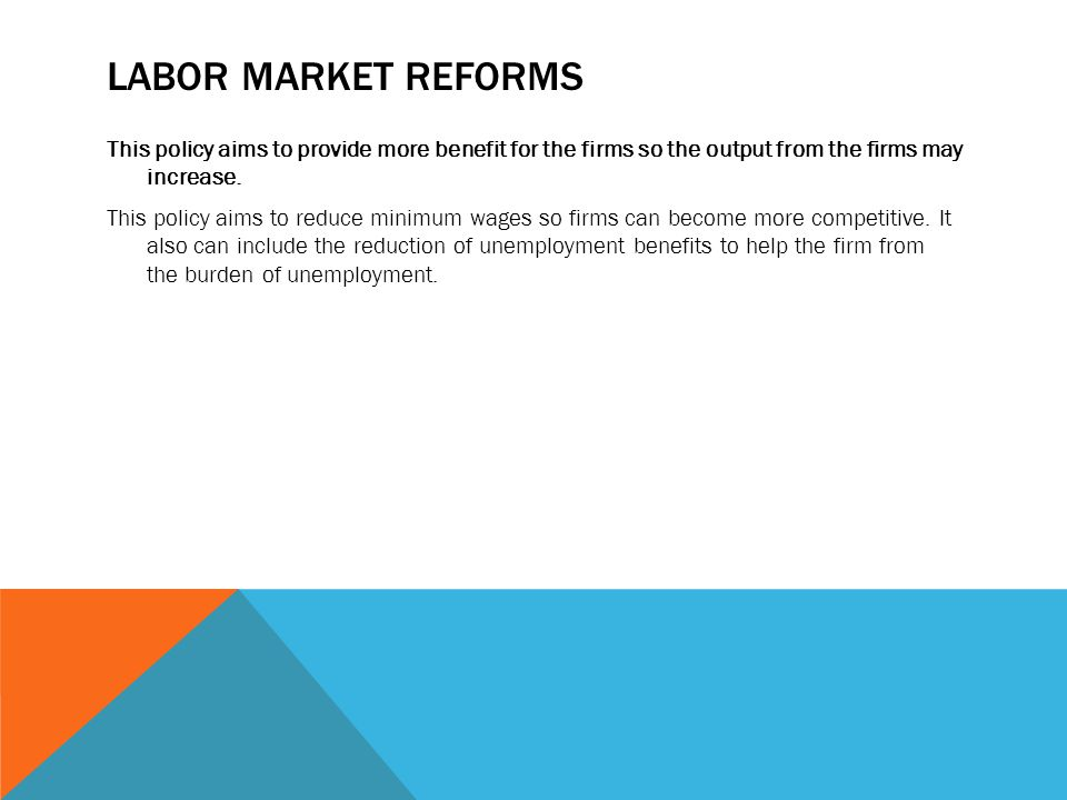 Labor market reforms