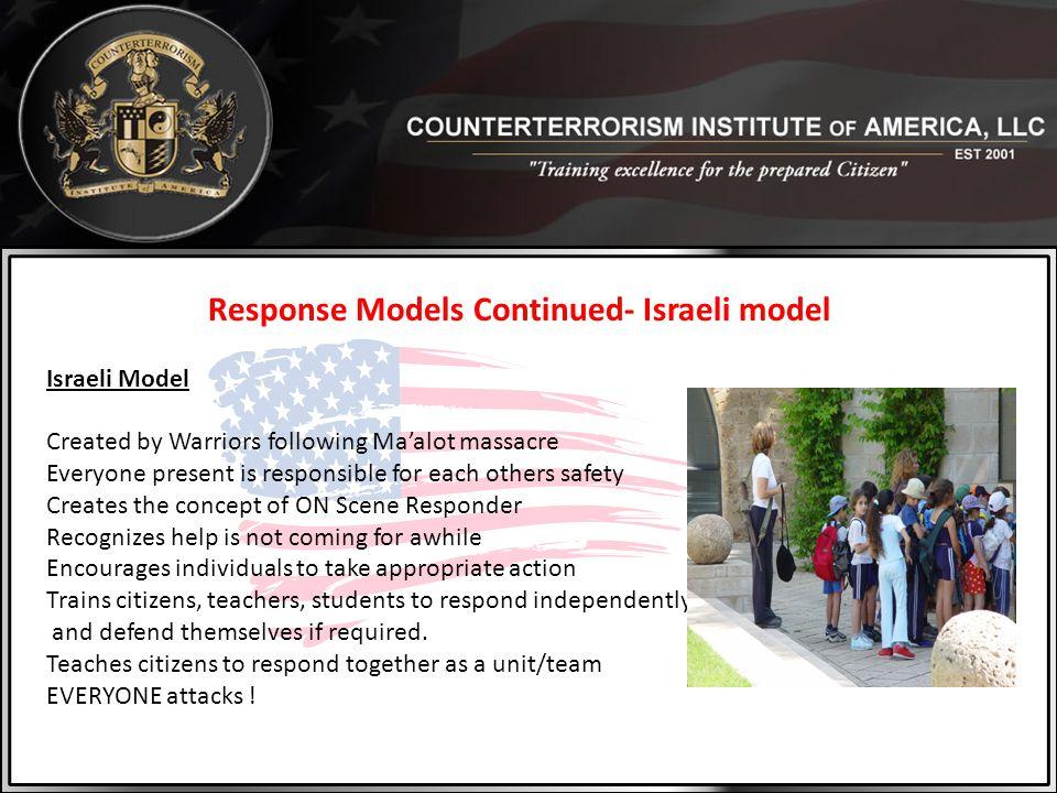 Response Models Continued- Israeli model