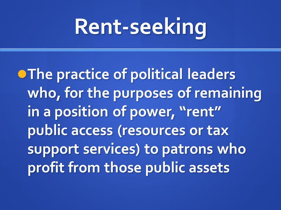Rent-seeking