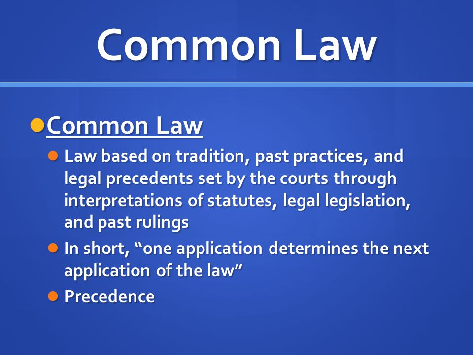 common law and statute law pdf