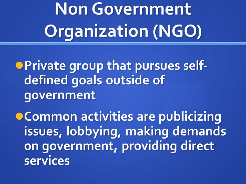 Non Government Organization (NGO)