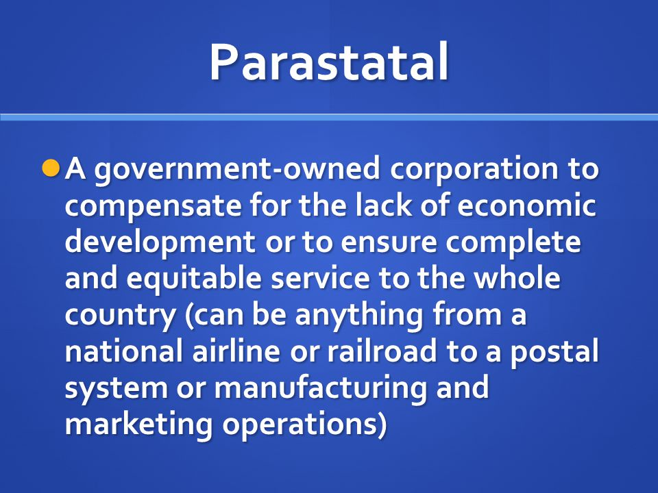Parastatal