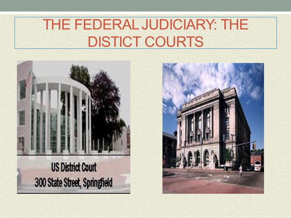 THE FEDERAL JUDICIARY: THE DISTICT COURTS