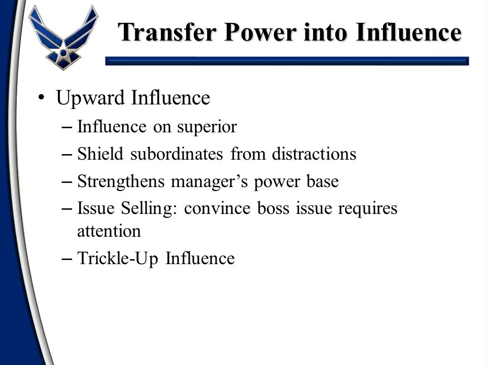 Transfer Power into Influence