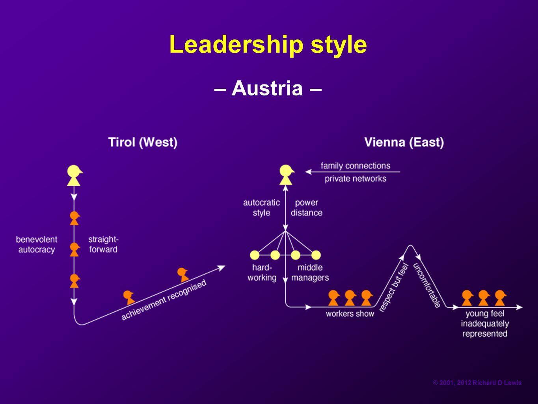 Leadership style – Austria –