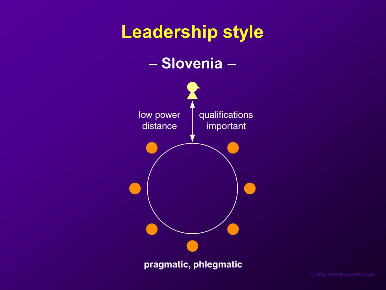 Leadership style – Slovenia –