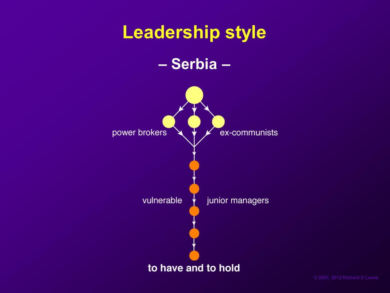 Leadership style – Serbia –