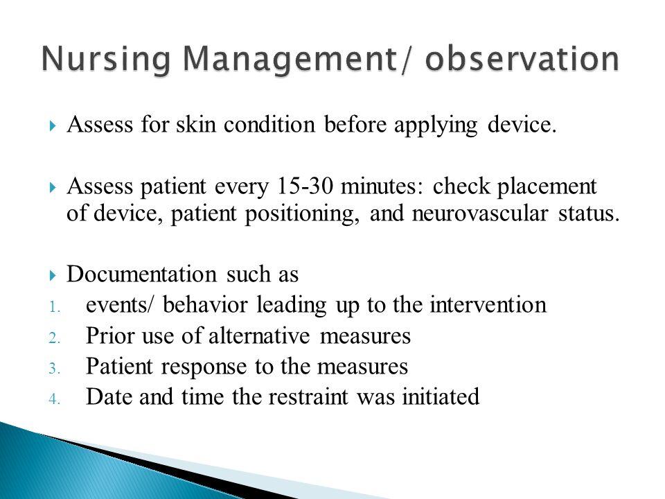 Nursing Management/ observation