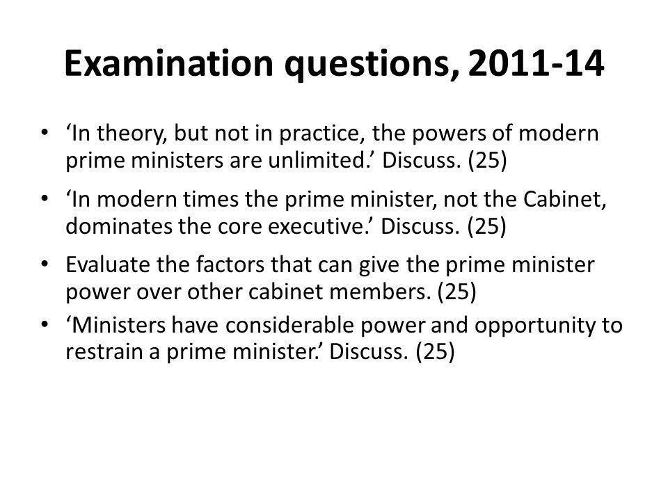 Examination questions, 2011-14