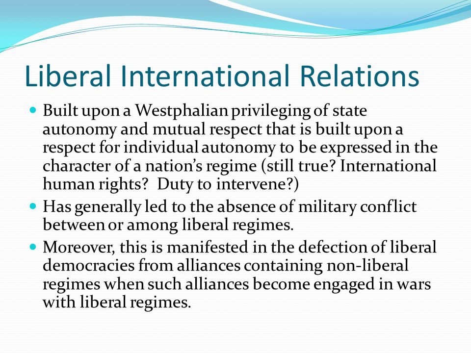 Liberal International Relations