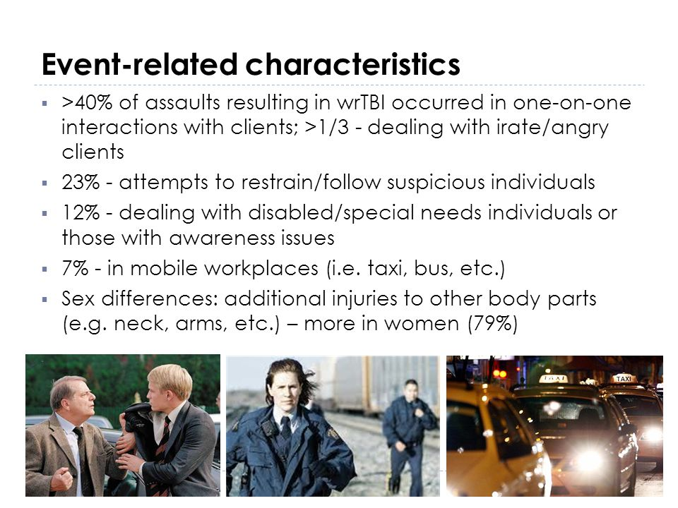 Event-related characteristics