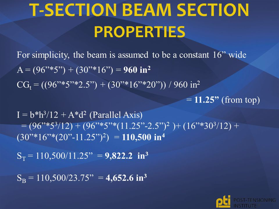 T-Section Beam Section Properties