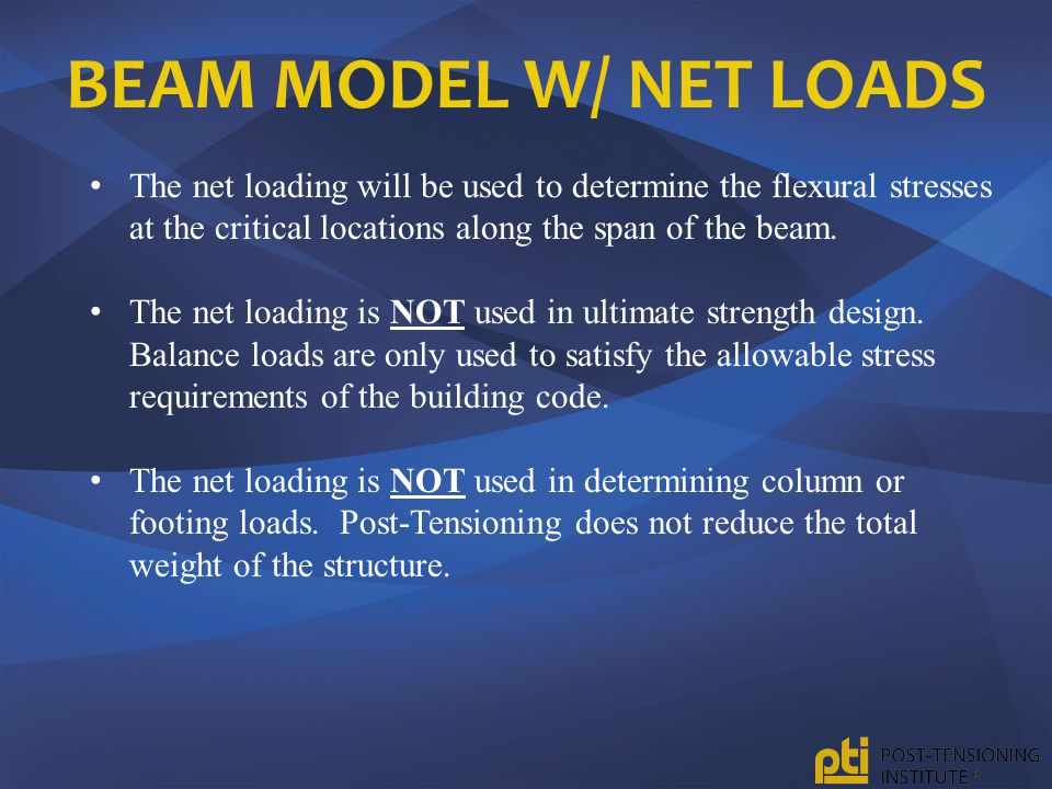 Beam Model w/ Net Loads The net loading will be used to determine the flexural stresses at the critical locations along the span of the beam.