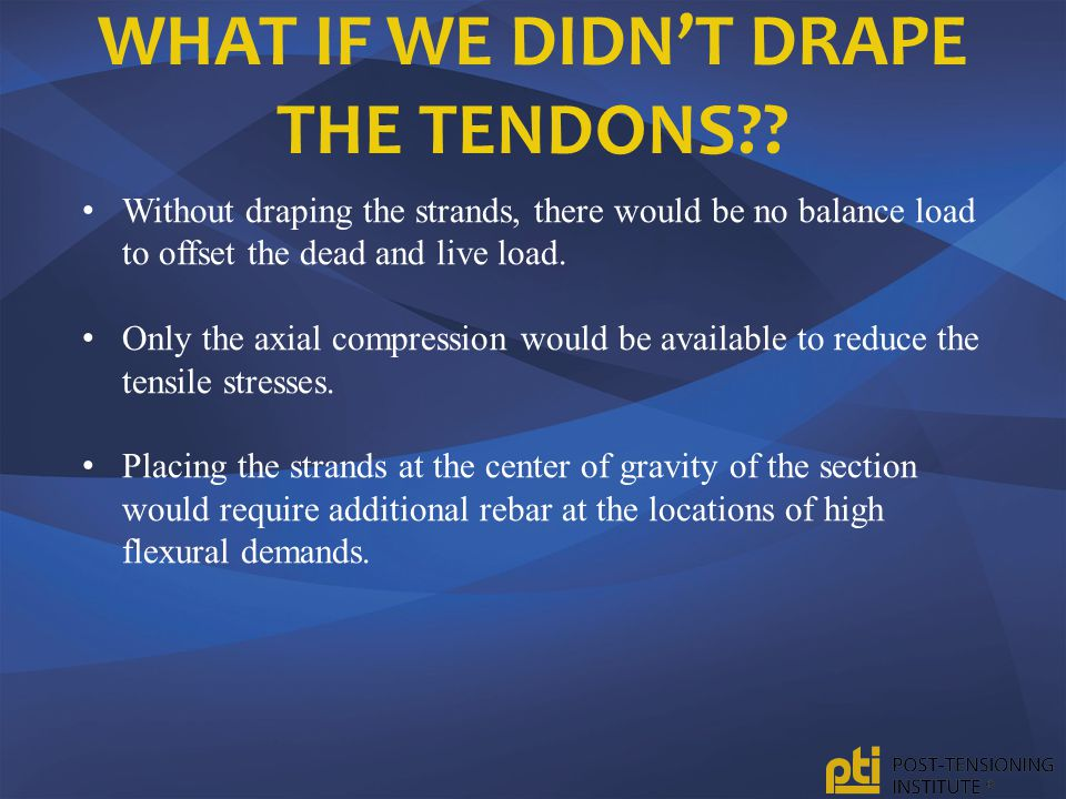 What if we didn't drape the tendons