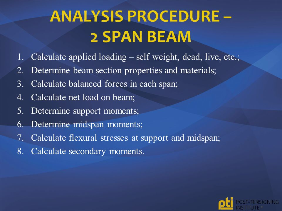 Analysis Procedure – 2 Span Beam