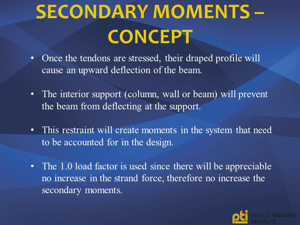 Secondary Moments – Concept