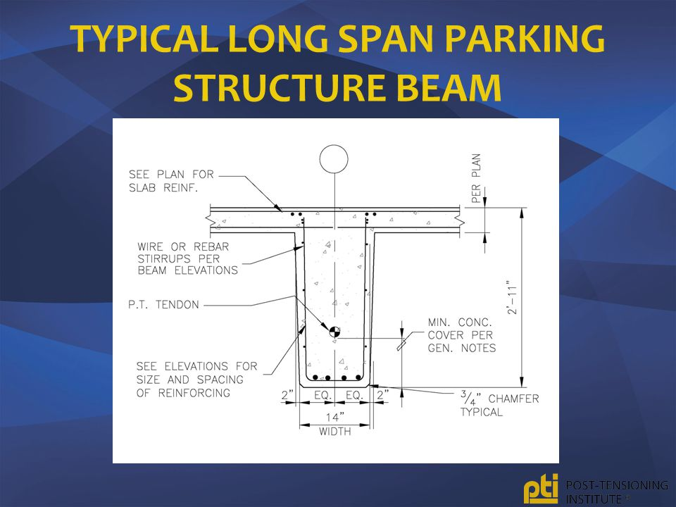 Typical Long Span Parking Structure Beam