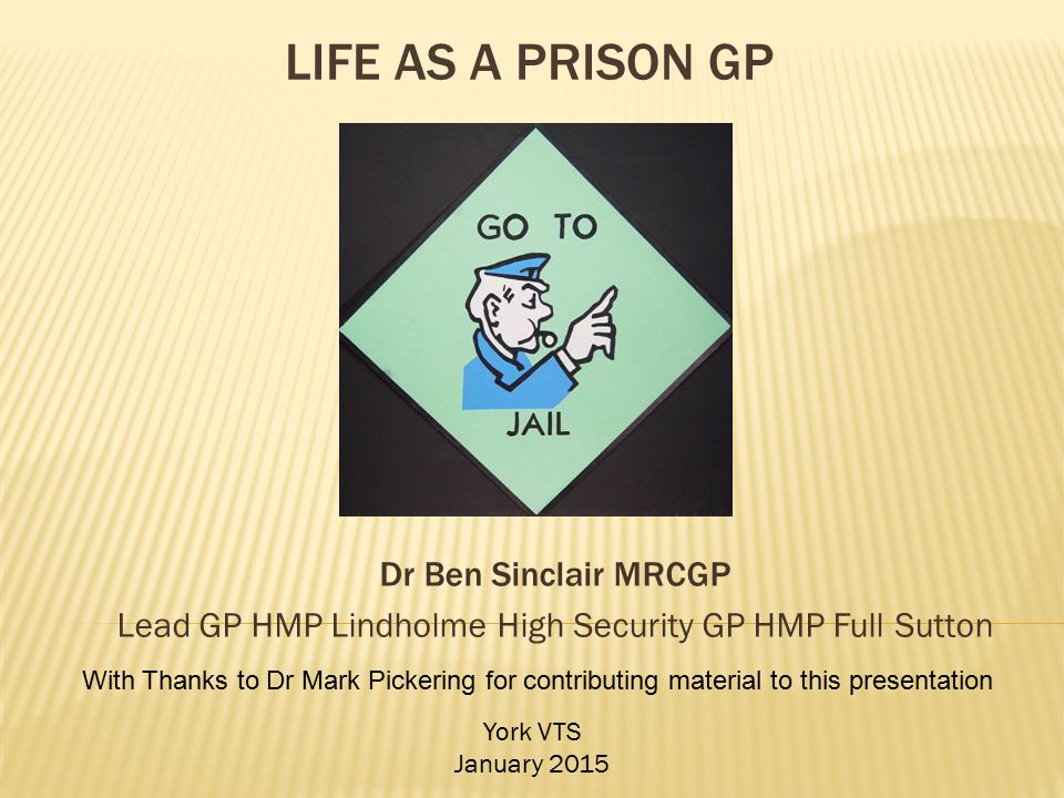 Lead GP HMP Lindholme High Security GP HMP Full Sutton