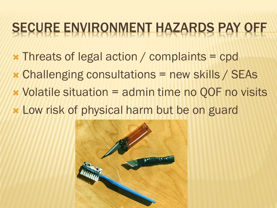 Secure Environment Hazards pay off