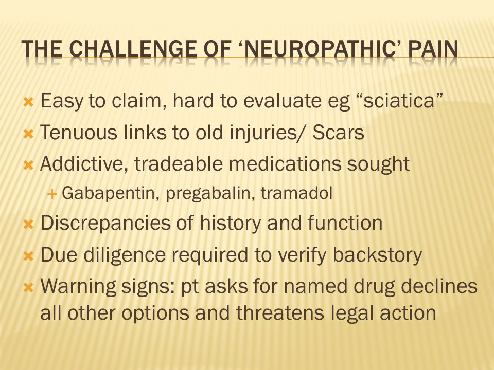 The challenge of 'neuropathic' pain