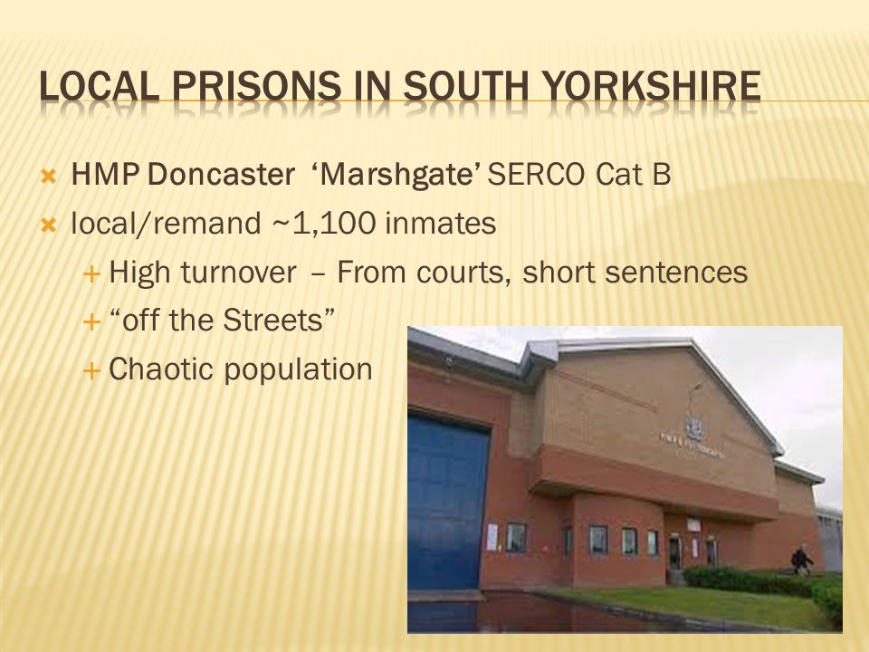 Local prisons IN South Yorkshire
