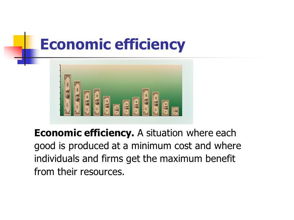 Economic efficiency Economic efficiency. A situation where each