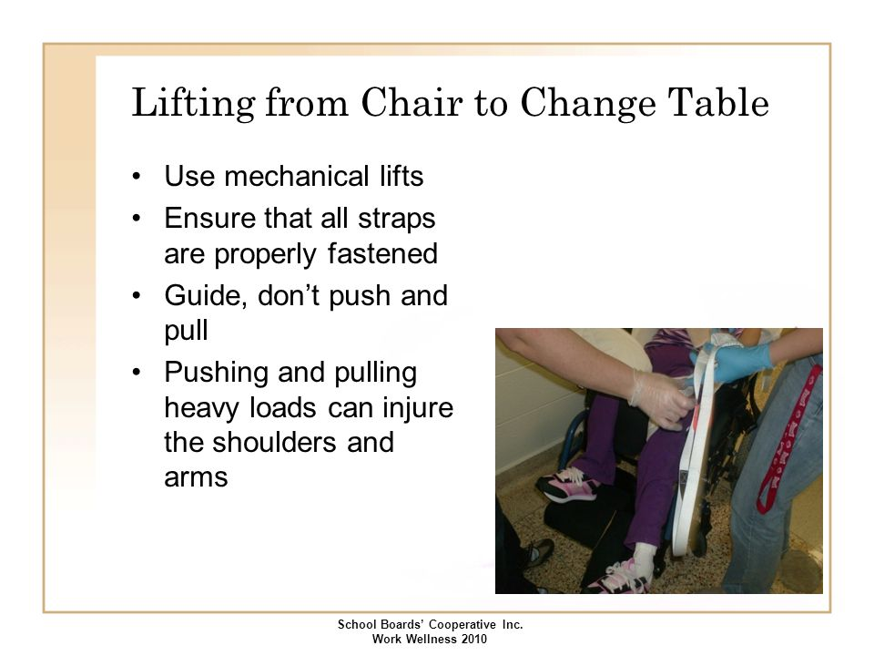 Lifting from Chair to Change Table