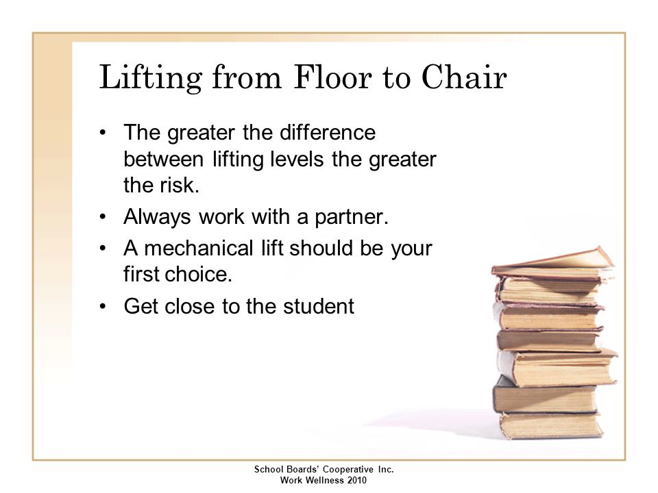 Lifting from Floor to Chair