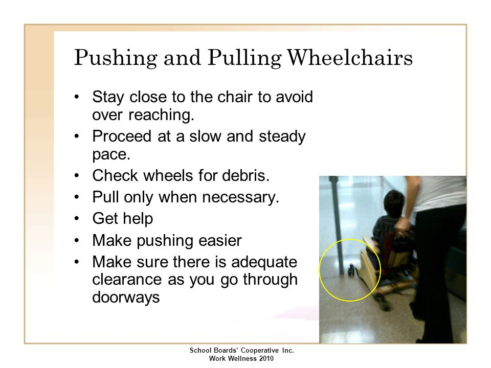 Pushing and Pulling Wheelchairs