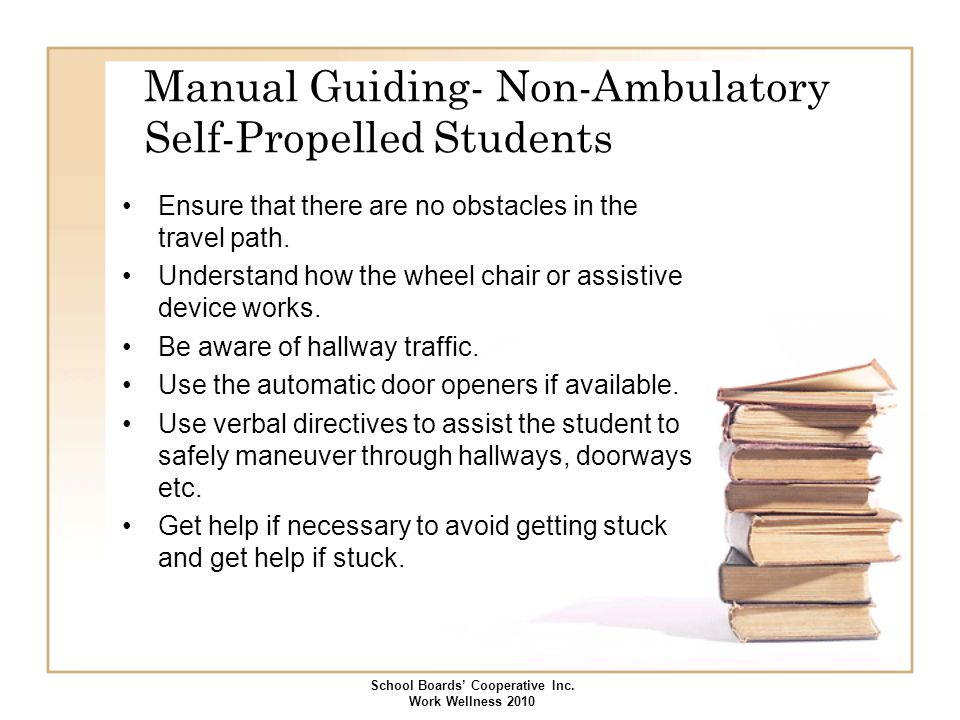 Manual Guiding- Non-Ambulatory Self-Propelled Students