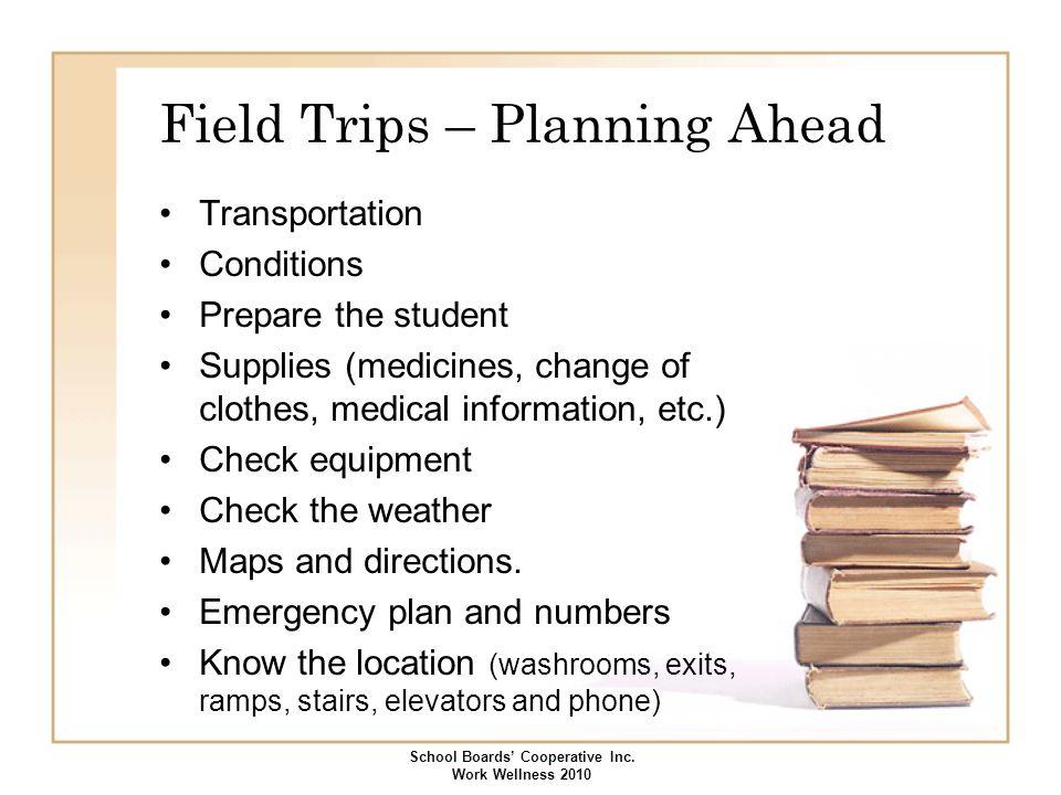 Field Trips – Planning Ahead