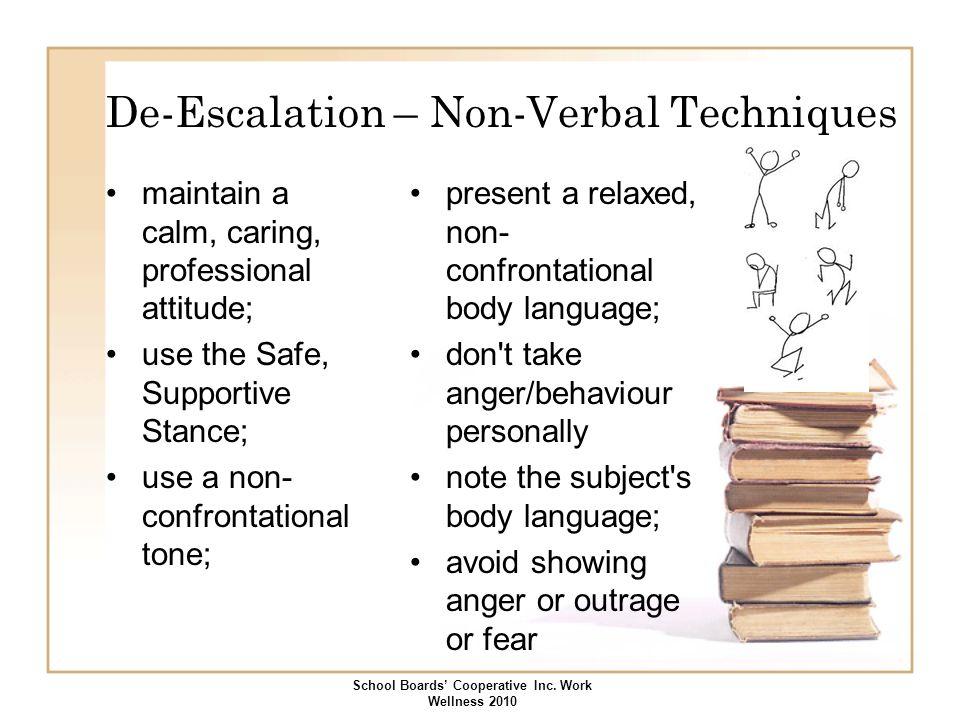 De-Escalation – Non-Verbal Techniques