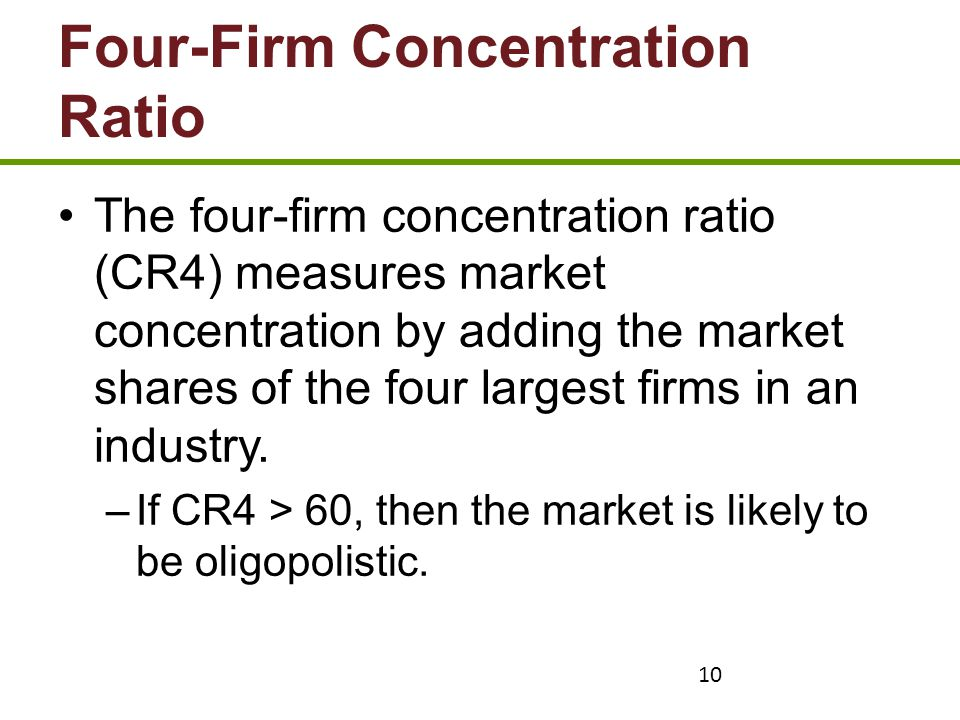 Four-Firm Concentration Ratio