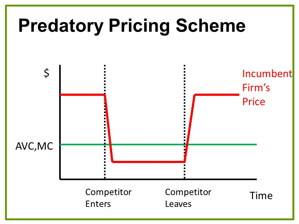 Predatory Pricing Scheme