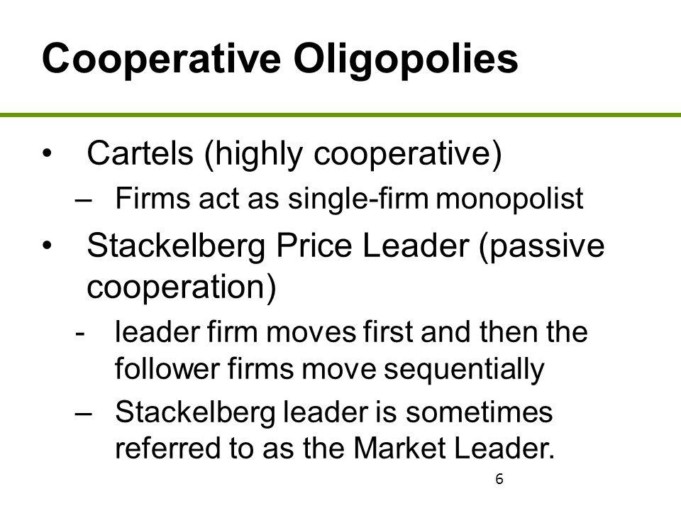 Cooperative Oligopolies